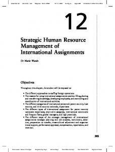 Strategic Human Resource Management of