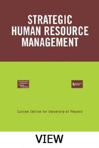 Strategic Human Resource Management View