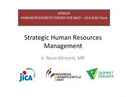 Strategic Human Resources Management Management - JICA