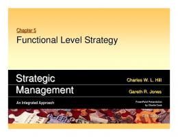 Strategic Management 05_06_07_08 Functional Business ...