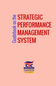 STRATEGIC PERFORMANCE MANAGEMENT SYSTEM - HRDO