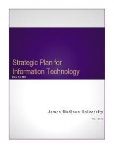 Strategic Plan for Information Technology