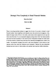 Strategic Price Complexity in Retail Financial Markets