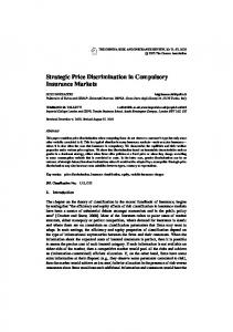 Strategic Price Discrimination in Compulsory Insurance Markets