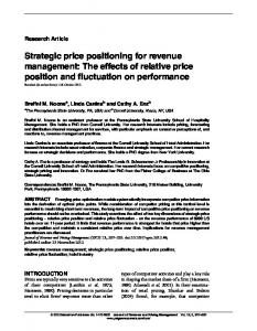 Strategic price positioning for revenue management ... - IngentaConnect