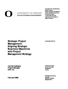 Strategic Project Management: Aligning Strategic Business ...