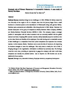 Strategic role of Human Resources in Automobile Industry: A case ...