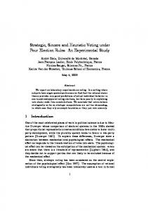Strategic, Sincere and Heuristic Voting under Four Election Rules: An ...
