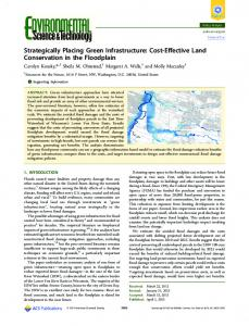 Strategically Placing Green Infrastructure: Cost ... - ACS Publications