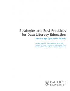 Strategies and Best Practices for Data Literacy Education - Mike Smit