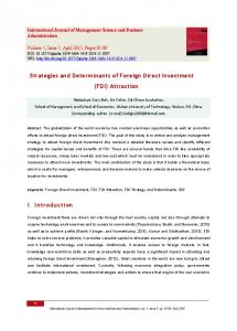 Strategies-and-determinants-of-foreign-direct-investment-fdi-attraction