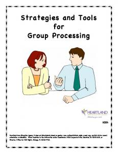 Strategies and Tools for Group Processing - learningteams