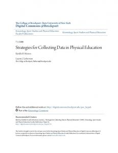 Strategies for Collecting Data in Physical Education