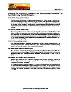 Strategies for Developing, Expanding, and Strengthening Community
