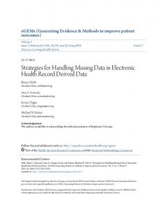 Strategies for Handling Missing Data in Electronic