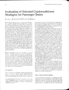 Strategies for Passenger Trains - National Transportation Library