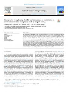 Strategies for strengthening-ductility and hierarchical