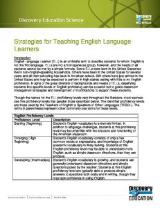 Strategies for Teaching English Language Learners - Discovery ...
