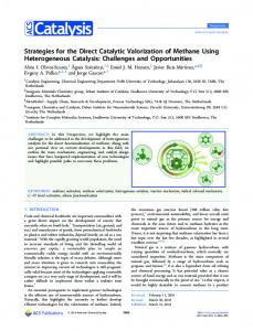 Strategies for the Direct Catalytic Valorization of ... - ACS Publications