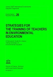 Strategies for the training of teachers - Unesco