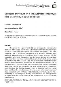 Strategies of Production in the Automobile Industry - Brazilian Journal ...