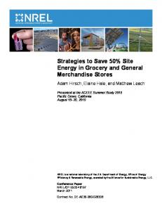 Strategies to Save 50% Site Energy in Grocery and General - NREL