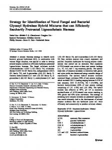 Strategy for Identification of Novel Fungal and Bacterial ... - Springer Link