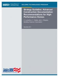 Strategy Guideline: Advanced Construction Documentation ...