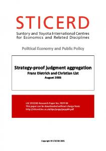 Strategy-proof judgment aggregation - SSRN papers
