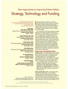 Strategy, Technology and Funding