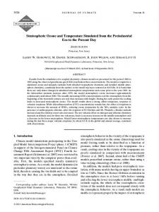 Stratospheric Ozone and Temperature Simulated from ... - AMS Journals