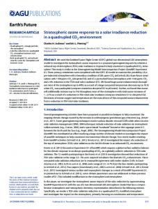 Stratospheric ozone response to a solar ... - Wiley Online Library