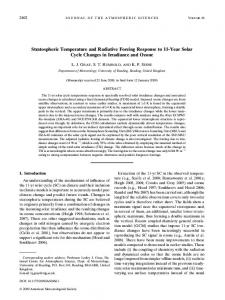 Stratospheric Temperature and Radiative Forcing Response to 11