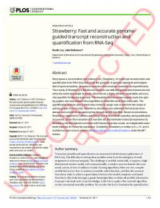 Strawberry: Fast and accurate genome-guided transcript ... - PLOS