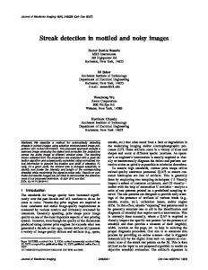 Streak detection in mottled and noisy images - Semantic Scholar