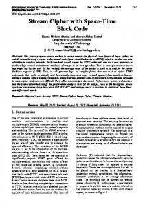 Stream Cipher with Space-Time Block Code - International Journal of ...