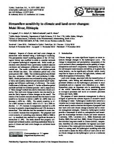 Streamflow sensitivity to climate and land cover changes: Meki ... - Core