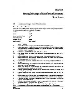 Strength Design of Reinforced Concrete Structures