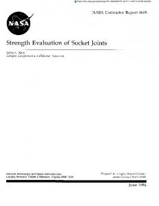 Strength Evaluation of Socket Joints