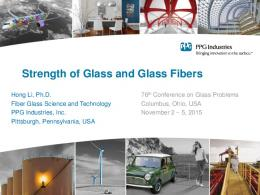 Strength of Glass and Glass Fibers