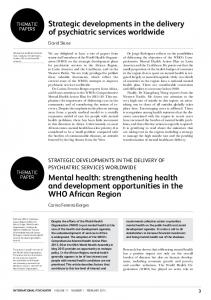 strengthening health and development opp