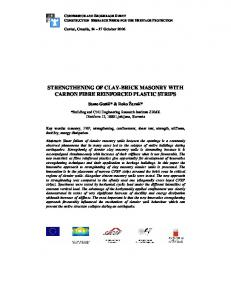 strengthening of clay-brick masonry with carbon fibre reinforced plastic ...