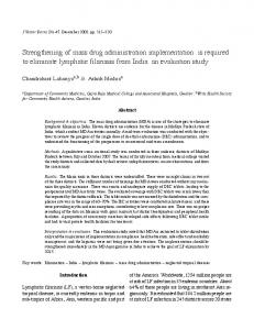 Strengthening of mass drug administration implementation is required ...