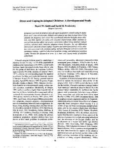 Stress and coping in adopted children: A ...