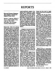 Stress and Immune Responses After Surgical Treatment for Regional ...