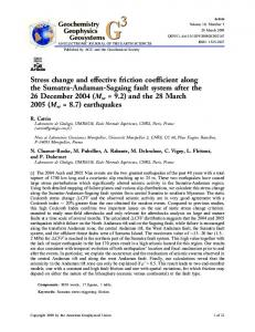 Stress change and effective friction coefficient along the ... - CiteSeerX