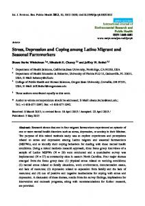 Stress, Depression and Coping among Latino Migrant and ... - MDPI