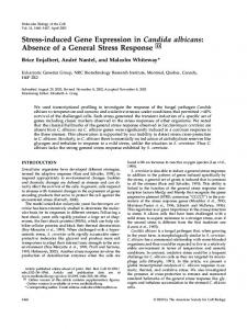 Stress-induced Gene Expression in Candida albicans: Absence of a ...