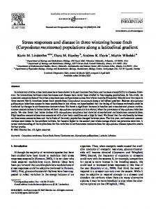 Stress responses and disease in three wintering house finch ...
