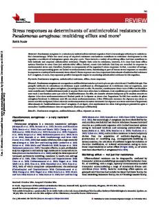 Stress responses as determinants of antimicrobial ...